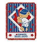 MLB Toronto Blue Jays Woven Jacquard Baby Blanket/Throw