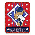 MLB Texas Rangers Woven Jacquard Baby Blanket/Throw