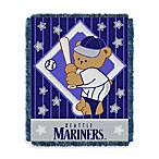 MLB Seattle Mariners Woven Jacquard Baby Blanket/Throw