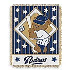 MLB San Diego Padres Woven Jacquard Baby Blanket/Throw