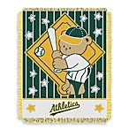 MLB Athletic A's Woven Jacquard Baby Blanket/Throw