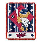 MLB Minnesota Twins Woven Jacquard Baby Blanket/Throw