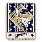 MLB Milwaukee Brewers Woven Jacquard Baby Blanket/Throw