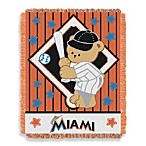 MLB Miami Marlins Woven Jacquard Baby Blanket/Throw