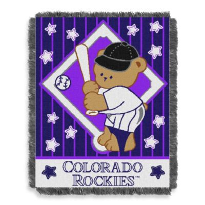 MLB Colorado Rockets Woven Jacquard Baby Blanket/Throw