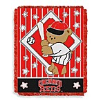 MLB Cincinnati Reds Woven Jacquard Baby Blanket/Throw