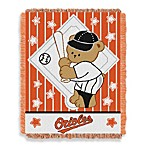 MLB Baltimore Orioles Woven Jacquard Baby Blanket/Throw
