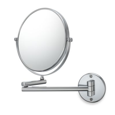 Kimball & Young 10X/1X Magnification Double-Arm Wall Mirror in Chrome