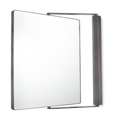 Kimball & Young 1X/1X Magnification Dual Sided Wall Mounted Pivot Mirror in Italian Bronze