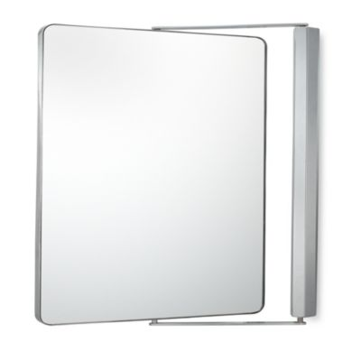 Kimball & Young 1X/1X Magnification Dual Sided Wall Mounted Pivot Mirror in Chrome