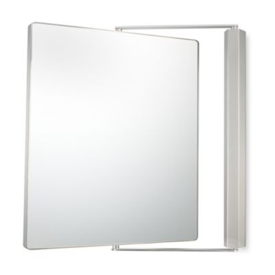 Kimball & Young 1X/1X Magnification Dual Sided Wall Mounted Pivot Mirror in Brushed Nickel