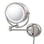 Kimball & Young Lighted 5X/1X Magnification Dual Sided Wall Mounted Mirror in Polished Nickel
