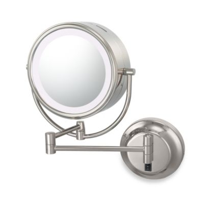 Kimball & Young Lighted 5X/1X Magnification Dual Sided Wall Mounted Mirror in Chrome