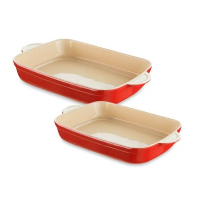 Denby Ceramic Oblong Dish in Cherry