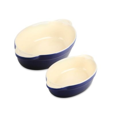 Denby Ceramic Medium Oval Dish in Blue