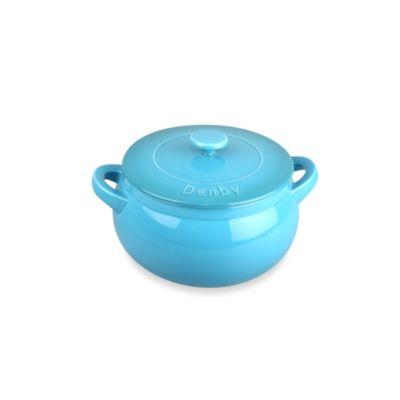 Denby Ceramic Round Casserole Dish in Azure