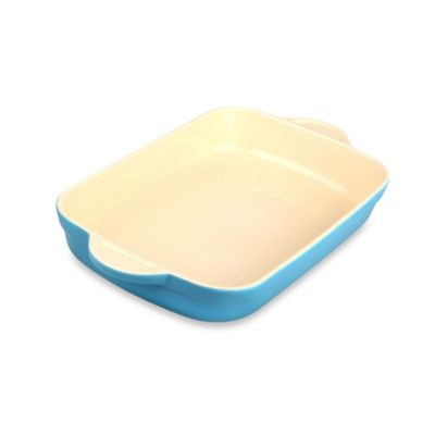 Denby Ceramic Medium Oblong Dish in Azure