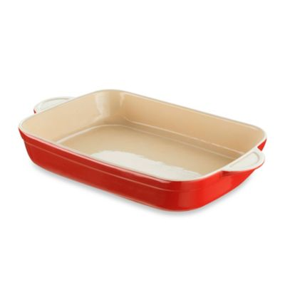 Denby Ceramic Large Oblong Dish in Cherry