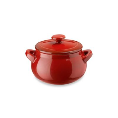 Ceramic Mini Casserole Dish in Cherry