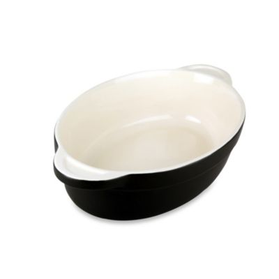 Denby Ceramic Medium Oval Dish in Black