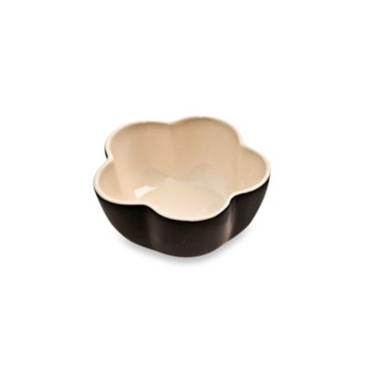 Denby Flower Ramekin Dish in Black