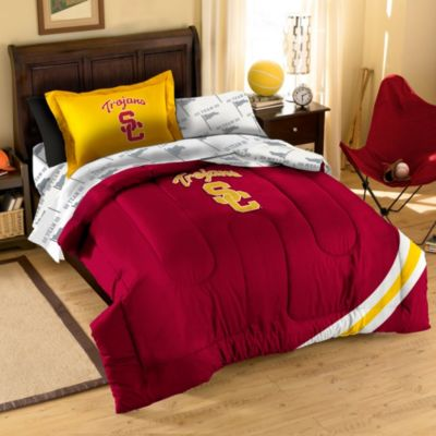 USC Trojans Twin Applique Bedding Set