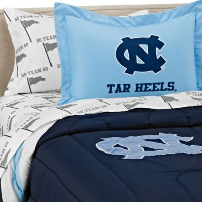 University of North Carolina School Logo Applique Twin Bedding Set