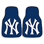 MLB New York Yankees Carpet Car Mat (Set of 2)