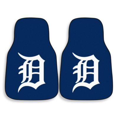 MLB Detroit Tigers Carpet Car Mat (Set of 2)