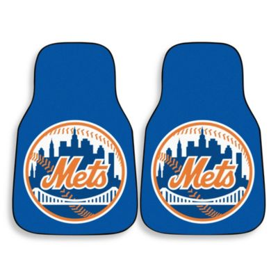 MLB New York Mets Carpet Car Mat (Set of 2)