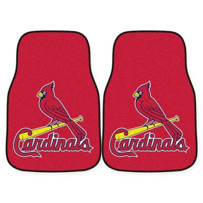 MLB St. Louis Carpet Cardinals Carpet Car Mat (Set of 2)