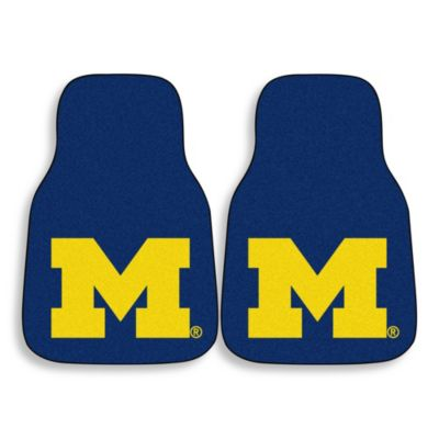 University of Michigan Carpeted Car Mats (Set of 2)