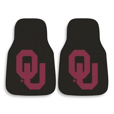 University of Oklahoma Carpeted Car Mats (Set of 2)