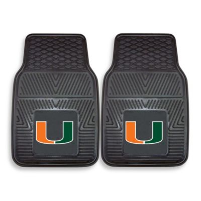 University Of Miami Vinyl Car Mat (Set of 2)