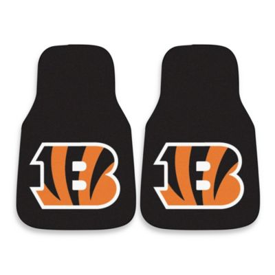 NFL Cincinnati Bengals Carpeted Car Mats (Set of 2)