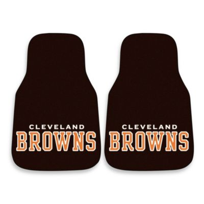 NFL Cleveland Browns Carpeted Car Mats (Set of 2)