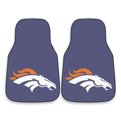 NFL Denver Broncos Carpeted Car Mats (Set of 2)