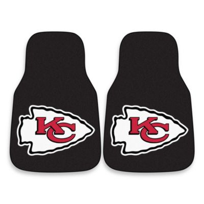 NFL Kansas City Chiefs Carpeted Car Mats (Set of 2)