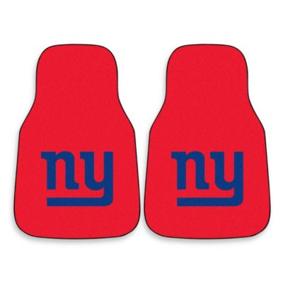 NFL New York Giants Carpeted Car Mats (Set of 2)