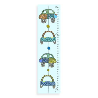 Green Leaf Art Colorful Cars Growth Chart