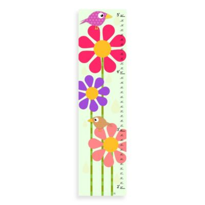 Green Leaf Art Birds House Growth Chart