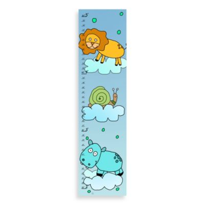 Green Leaf Art Lion And Hippo On Sky Growth Chart