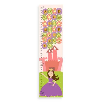 Green Leaf Art ABC Princess Growth Chart