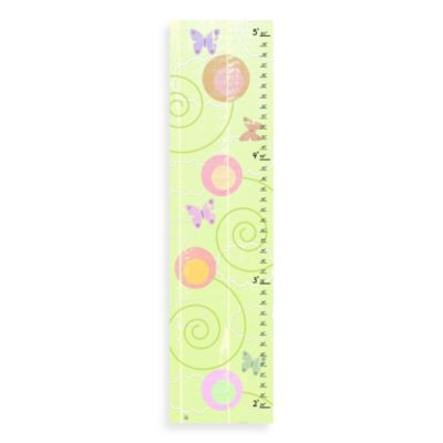Green Leaf Art Butterflies On Green Growth Chart