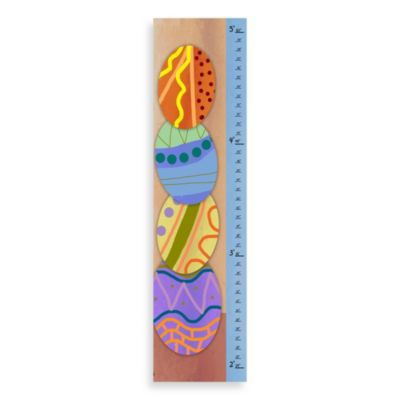 Green Leaf Art Easter Eggs Growth Chart