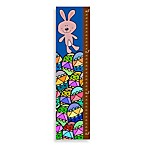 Green Leaf Art Bunny And Eggs Growth Chart
