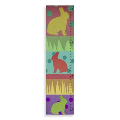 Green Leaf Art Bunny Growth Chart