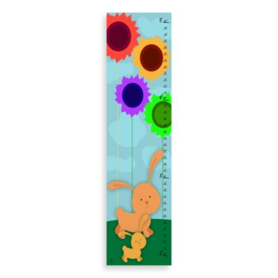 Green Leaf Art Mommy And Son Bunnies Growth Chart