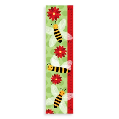 Green Leaf Art Bees Growth Chart