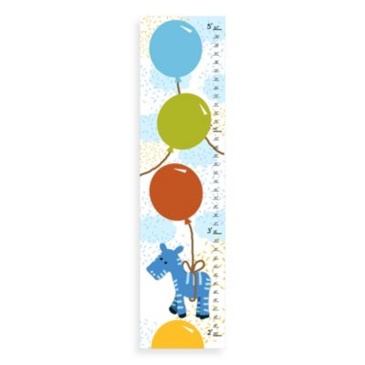 Green Leaf Art Blue Zebra Growth Chart
